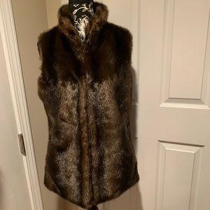 CO OP Barneys New York Faux Fur Vest